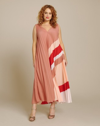 Tome Pleated Printed Dress