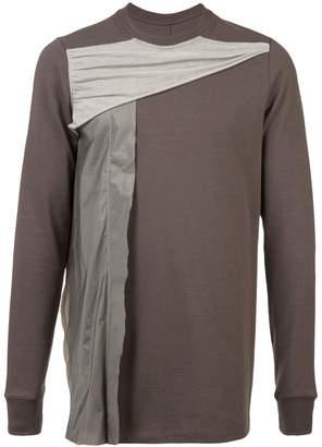 Rick Owens draped panel sweatshirt