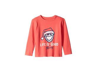 Life is Good Life is Merry Good Crusher T-Shirt Long Sleeve (Toddler)