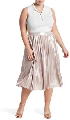 Rachel Roy Pleated Lame Skirt (Plus Size)