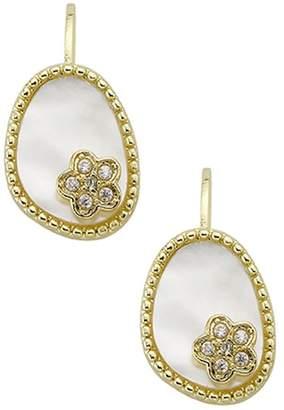 Mother of Pearl Little Miss Twin Stars Little Miss Flower Girl Leverback Earrings