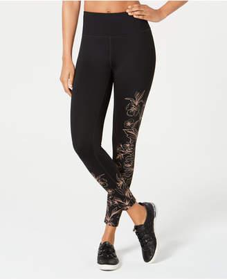 Calvin Klein Whisper Metallic-Print High-Rise Leggings