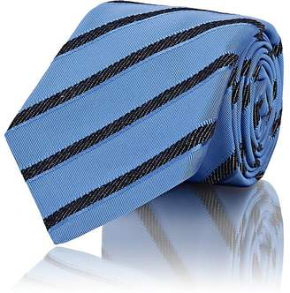 Kiton Men's Striped Silk-Cotton Grosgrain Necktie