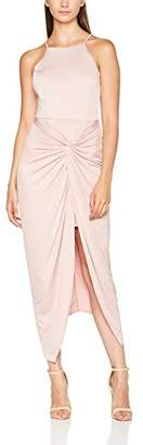 Miss Selfridge Women's Twist Dress, (Pink)