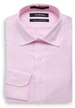 Saks Fifth Avenue Tonal Satin Twill Slim-Fit Cotton Dress Shirt