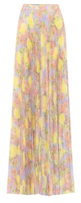 Prada Floral crêpe maxi skirt