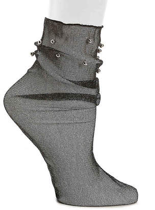 Steve Madden Shimmer Sheer Ankle Socks - Women's