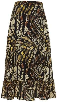 Gestuz Tasnim Python-print Chiffon Midi Skirt