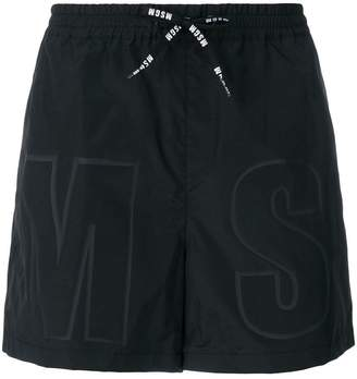 MSGM branded swimming shorts