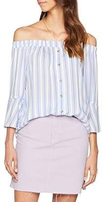 Miss Selfridge Women's Stripe Bardot Blouse,8