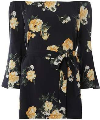 Dorothy Perkins Womens Navy Floral Tunic
