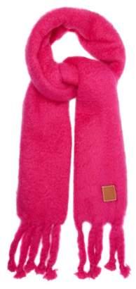 Loewe Chunky Mohair Blend Scarf - Womens - Pink