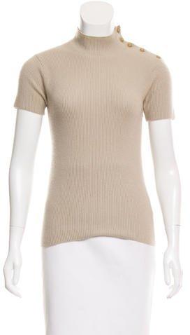 Chanel Rib Knit Cashmere Top