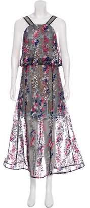 Self-Portrait Floral Embroidered Dress