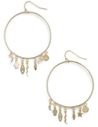 Melinda Maria Charmed I'm Sure Hoop Earrings