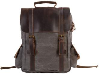 EAZO - Side Pockets Canvas Backpack in Grey