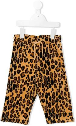 Mini Rodini leopard-print velour sweatpants