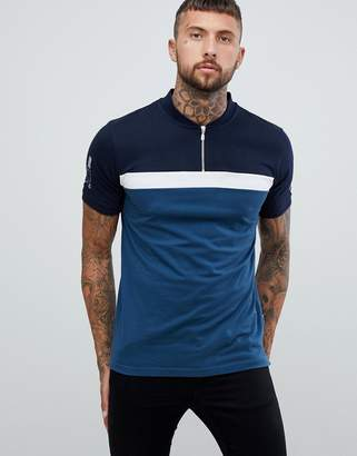 Nicce London campus polo shirt in blue with logo