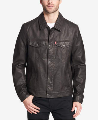 Levi's Men's Faux-Leather Trucker Jacket