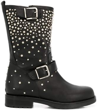 Albano pearl embellished boots