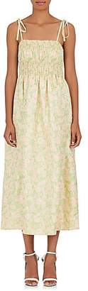Calvin Klein Women's Floral Jacquard Maxi Dress - Peach/Lime Size 40 It