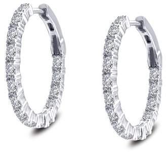 Lafonn Platinum Sterling Oval 32mm Hoop Earrings
