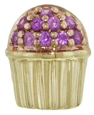 Sydney Evan Pink Sapphire Cupcake Single Stud Earring