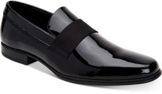 Calvin Klein Men Demetrius Patent Leather Tuxedo Loafers Men Shoes