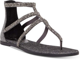 Jessica Simpson Cammie Sparkle Strap Flat Sandals Women's Shoes