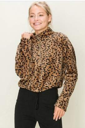 Hyfve Leopard Crop Jacket