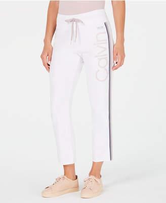 Calvin Klein High-Waist Ombre-Stripe Ankle Pants