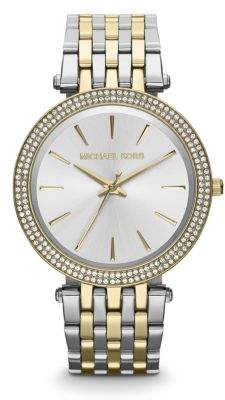 Michael Kors Darci Pave Two-Tone Stainless Steel Bracelet Watch