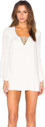 LSPACE Island Gypsy Mini Dress $149 thestylecure.com