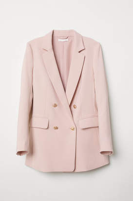 H&M Double-breasted Jacket - Pink