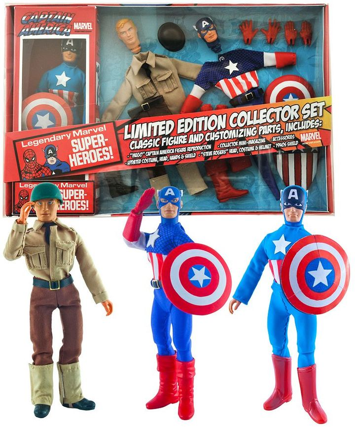 Diamond select toys Marvel Limited Edition Captain America 8'' Retro Action Figure Set by Diamond Select Toys