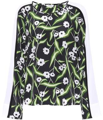Equipment Abeline floral-printed silk shirt