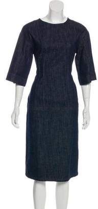 Dries Van Noten Denim Midi Dress w/ Tags