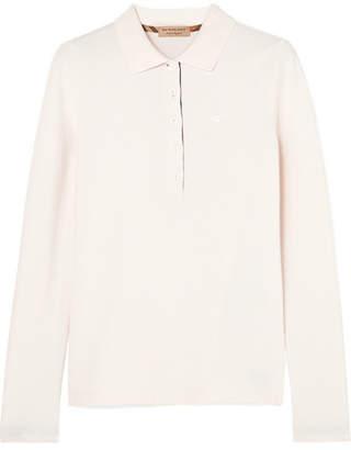 Burberry Zulia Embroidered Cotton-piqué Polo Shirt - Ivory
