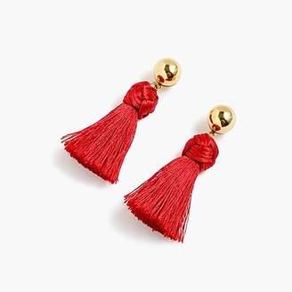 J.Crew Ball and tassel earrings