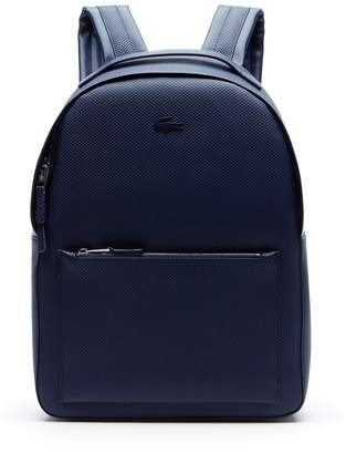 Lacoste Men s Chantaco Matte Pique Leather Backpack 9b4680b9f3181