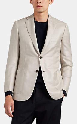 Brioni Men's Ravello Silk-Blend Two-Button Sportcoat - Beige, Tan