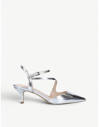 3129562ba183 Aldo Caderivia metallic faux-leather kitten heel courts