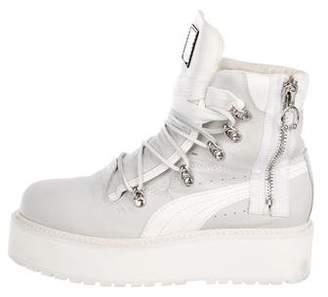 FENTY PUMA by Rihanna SB White Rihanna Boots
