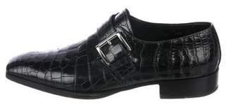 Prada Alligator Monk Strap Shoes