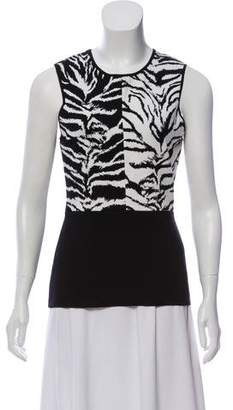 Fausto Puglisi Patterned Sleeveless Top