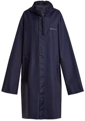 Vetements Horoscope Sagittarius Hooded Raincoat - Womens - Navy
