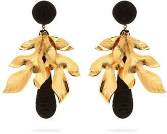 Rebecca De Ravenel - Violetta Gold Plated And Silk Cord Earrings - Womens - Black