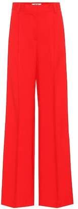MSGM Crêpe wide-leg pants
