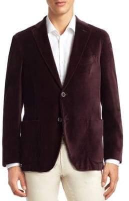 Saks Fifth Avenue COLLECTION Velvet Sportcoat