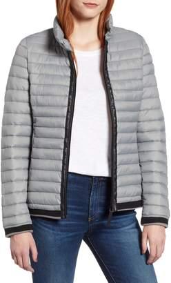 Andrew Marc Stripe Trim Packable Jacket